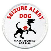 SEIZURE ALERT DOG Medical Alert Symbol 7.6cm Sew-on Patch