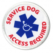 SERVICE DOG Access Required Medical Alert 7.6cm Sew-on Patch