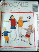 BOYS AND GIRLS TOPS OR VEST, SKIRT AND PANTS SIZE 4-5-6 EASY MCCALLS JUMPING BEANS PATTERN #5059