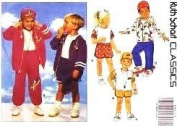 BUTTERICK Sewing Pattern 6092 Little Boy & Girl Jacket, Top, Shorts, Pants, & Hat Sewing Pattern