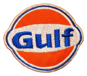 Gulf Oil Racing Race Cars Jecket Logo GG01 Embroidered Patches