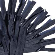 Unique Invisible Zipper 22cm ~ YKK Conceal Zipper K071 Dark Navy