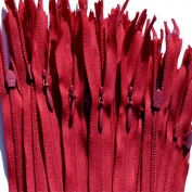 Unique Invisible Zipper 20cm ~ YKK Conceal Zipper (520) Deep RED