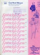 Stretch & Sew Pattern No. 305 Cowl Neck Blouson Bust Sizes