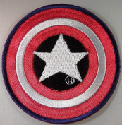 CAPTAIN AMERICA Marvel Comics SHIELD Logo Embroidered PATCH
