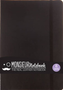 Monsieur Notebook Black Leather Fountain Medium