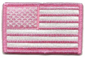 Tactical USA Flag Patch - Pink