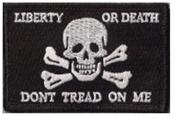 Liberty Or Death Skull & Bones Tactical Patch - Black