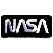 NASA Badge Iron on Patches #Black
