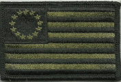 Tactical Betsy Ross Flag Patch - Olive Drab