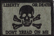 Liberty Or Death Skull & Bones Tactical Patch - ACU/Foliage