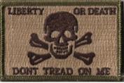 Liberty Or Death Skull & Bones Tactical Patch - Multitan