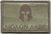 Molon Labe Tactical Patch - ATACS Tan