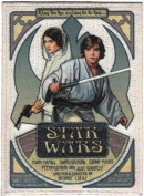 Star Wars / Clone Wars Lucas Movie Novelty Iron On Patch - Luke & Leia Movie Poster Applique