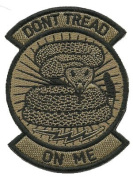 Rocker Patch - Dont Tread On Me- Coyote Tan