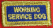Working Service Dog Patch for X-Tiny Vest ONLY