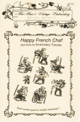 Happy French Chef Days-of-the-week Tea Towels Hot Iron Embroidery Transfers