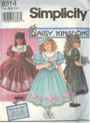 Simplicity 8314 - Daisy Kingdom Girl Dress Pattern - Size AA 7-10