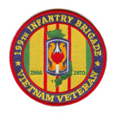 199th Light Infantry Brigade Vietnam Veteran Patch