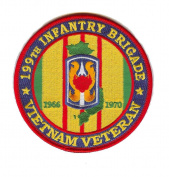 199th Light Infantry Brigade Vietnam Veteran Patch