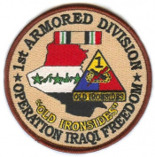 1st Armoured Division Operation Iraqi Freedom Patch
