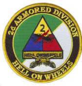 2nd Armoured Division with Crossed Sabres Patch