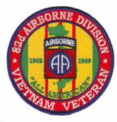 82nd Airborne Division Vietnam Veteran 10cm Patch