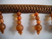 Bronze Sea Glass Beaded Fringe 4.4cm BTY