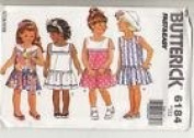 Butterick Fast and Easy Children's Pullover Dress Sewing Pattern #6184 Sizes 5-6-6X