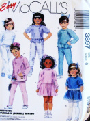 McCall's 3897 Easy Girls' Dresses, Tops, Pants (Knits) Size 6 Sewing Pattern