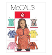 McCall's 5456 Sewing Pattern Girls Tops makes sizes 2-3-4-5