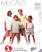 McCALL'S 7017 SEWING PATTERN ~ Childredn (size 5, 6) SHORTS ~ LEARN TO SEW FOR FUN