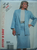 MISSES JACKET AND SKIRT SIZE 8-10-12 STITCH 'N SAVE BY MCCALLS 2966