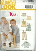 New Look 6236A Sewing Pattern Kids Pants Dress Top Jacket Size NB-L