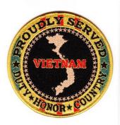 Proudly Served Vietnam Veteran Black Patch
