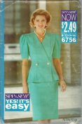 See & Sew 6756B Sewung Pattern Misses Jacket & Skirt Size 12-14