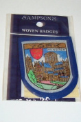 York Minster Embroidery Woven Souvenir Badge