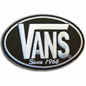 VANS SINCE 1966 SKATEBOARD BLACK PATCHES # WITH.