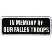 Hot Leathers In Memory Fallen Troops Patch