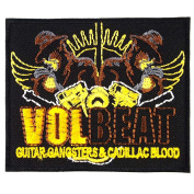 Volbeat Guitar Gangsters and Cadillac Blood Rock Heavy Metal Embroidered Iron On Patches # WITH.