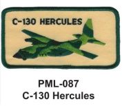 10cm Embroidered Millitary Large Patch C-130 Hercules