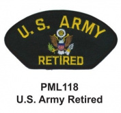 10cm Embroidered Millitary Large Patch U.S. Army Retired