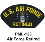 10cm Embroidered Millitary Large Patch Air Force Retired