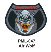 10cm Embroidered Millitary Large Patch Air Wolf