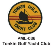 10cm Embroidered Millitary Large Patch Tonkin Gulf Yacht Club