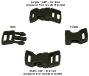 60cm - 1.3cm Olive Drab Green Economy Contoured Side Release Plastic Buckles