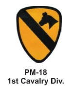 7.6cm Embroidered Millitary Patch 1st Cavalry Div.