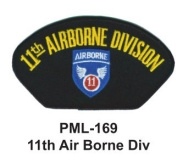 10cm Embroidered Millitary Large Patch 11th Air Borne Div