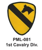 10cm Embroidered Millitary Large Patch 1st Cavalry Div.