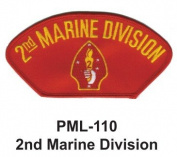 10cm Embroidered Millitary Large Patch 2nd Marine Division